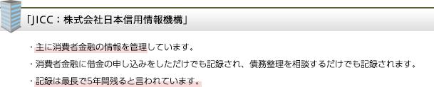 JICC:株式会社日本信用情報機構