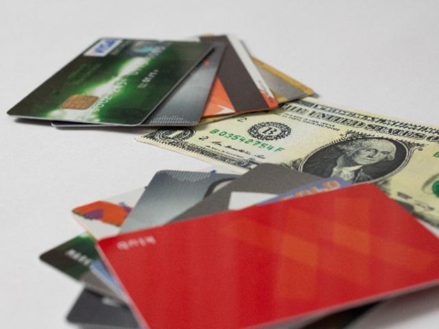 大量のキャッシュカード
