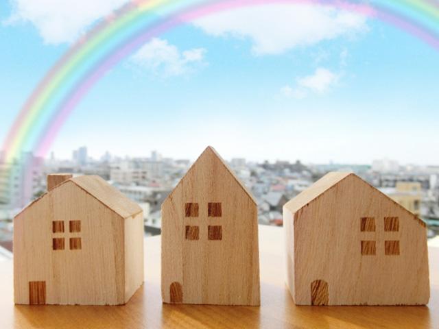 3軒の木の家