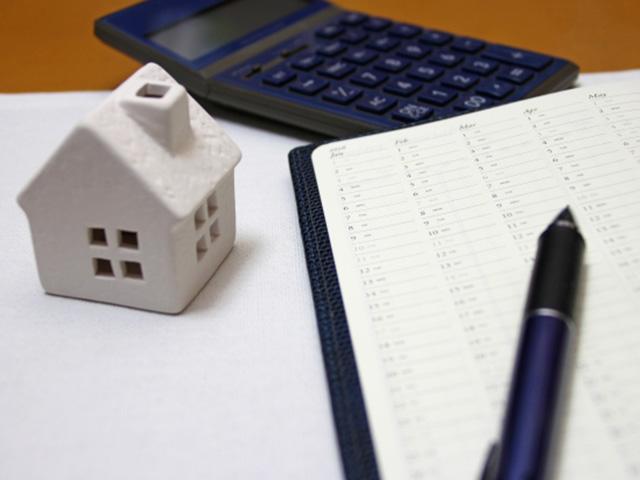 電卓と家とノート
